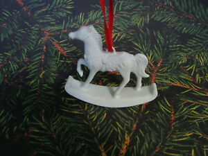 White-Porcelain-Rocking-Horse-Ornament-Biscuit-Porcelain-Hutschenreuther