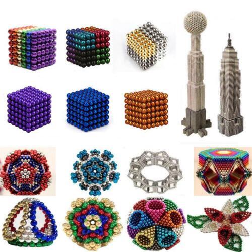 216pcs 3//5mm Magnete Magnet Magic Cube Sphere Neo Ball Spielzeug 3D Neodym Bäll