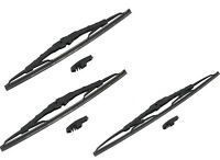 Jeep Wrangler 97-04 Set Of Front And Right Wiper Blades Bosch 13 / 13 / 18
