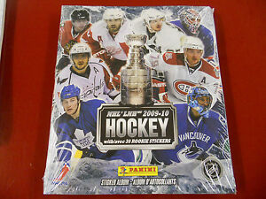 Hockey-2009-10-Sticker-Album-Panini-Sealed-with-all-stickers-New-Rare-NHL-LNH