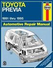 Toyota Previa (91-95) Automotive Repair Manual by J. H. Haynes, Robert Maddox (Paperback, 1995)