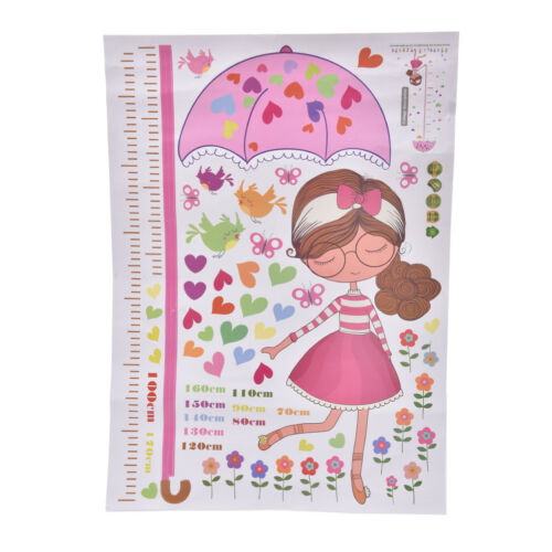 umbrella measure height girl removable vinyl wall stickers baby room decor✓UK