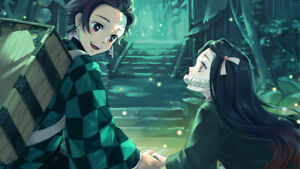 Details About Demon Slayer Kimetsu No Yaiba Nezuko Kamado Silk Poster 24 X 14 Inch Wallpaper