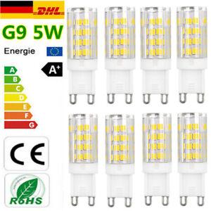 8stk-G9-5W-LED-Gluehbirne-Birne-Mais-Licht-Leuchtmittel-Strahler-Sehr-Hell-Lampe