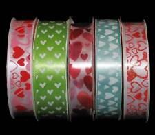 "15 yards Pink LOVE Grosgrain 5//8/"" Ribbon//Heart//Craft//Valentine/'s Day R95 LAST"