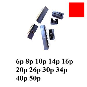 5x-Box-Header-Connector-ISP-JTAG-Socket-2-54MM-DC3-6-8-10-14-16-20-26-30-40-50-p