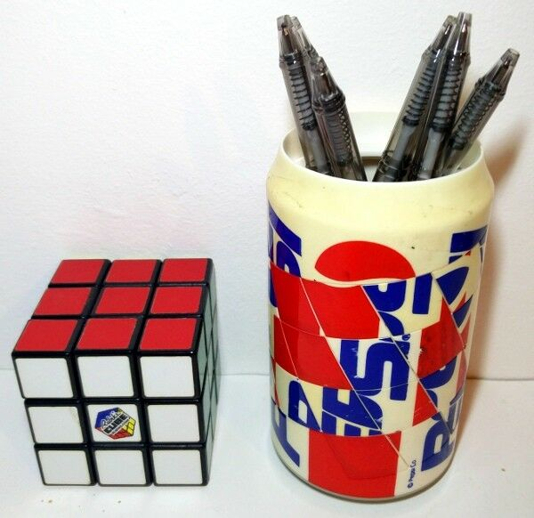 Ultra rare PEPSI cylinder barrel puzzle, related to the Rubik's cube