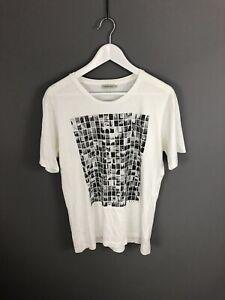 Calvin-Klein-T-Shirt-Groesse-Large-Weiss-Super-Zustand-Herren