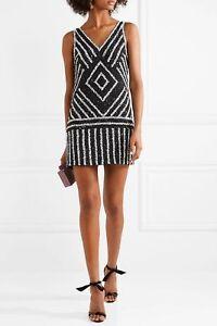 Details About New Alice Olivia Black White Sequin Beaded Venetia A Line Drop Waist Dress 8