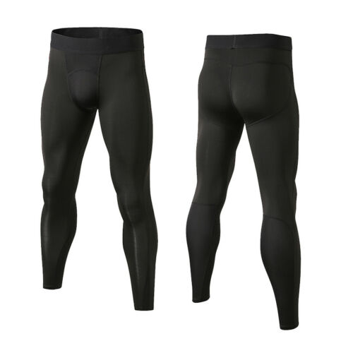 Men/'s Compression Sports Pants Gym Running Basketball Training Tights Dri-fit