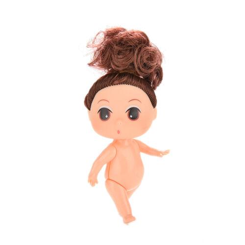 9cm Doll for Mini Ddung Dolls with Brown Bun Hair Baking Mold Dolls Girl H/&P
