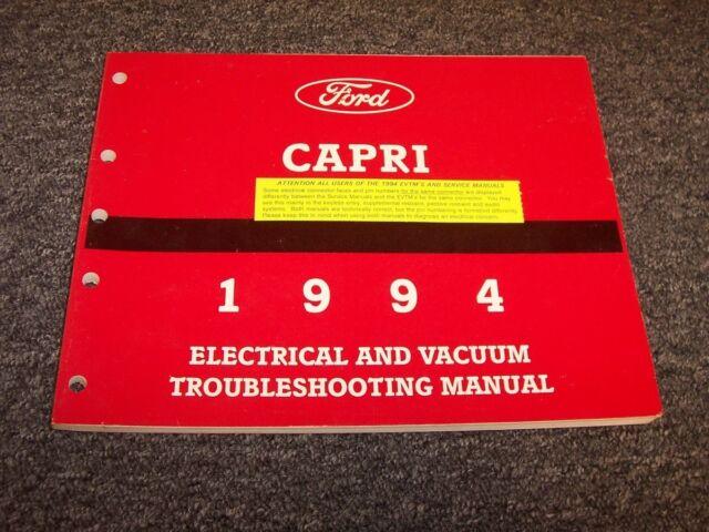 1994 Mercury Capri Convertible Electrical Wiring  U0026 Vacuum
