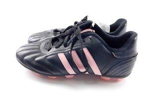 104dc242c Adidas Telstar TRX Hard Ground Youth Girls Black Pink Soccer Cleats ...