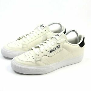 Adidas-Originals-Continental-Vulc-Cream-Leather-Sneakers-Shoes-Men-Sz-9-5-10-5