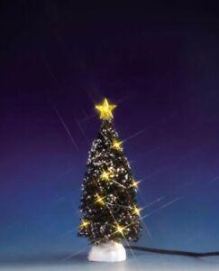 Lemax Clear Lighted MEDIUM 6 Inch EVERGREEN TREE Christmas Village