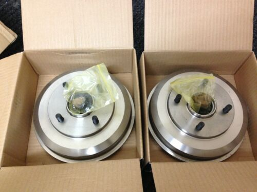 FORD FOCUS REAR BRAKE DRUMS /& 2 WHEEL BEARINGS FITTED BRAND NEW DRUMS