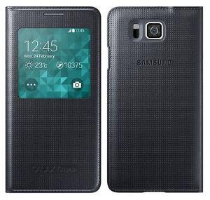 release date: 54aa0 b7032 Details about Original Samsung S VIEW FLIP CASE Galaxy ALPHA SM G850F  smartphone book cover BL