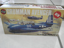 Airfix 1/72 Grumman Avenger Military Airplane plastic model kit Decals got wet