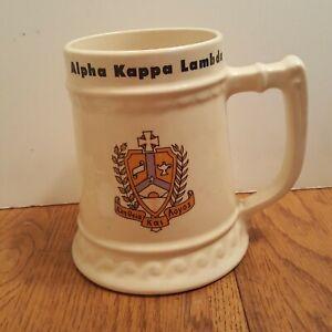 vintage-Alpha-Kappa-Lambda-beer-stein-ceramic-Mug-AKL-Frat