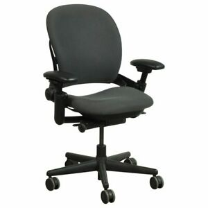 Steelcase Leap  V1  Chair, -Open Box- Fully Loaded Black Fabric