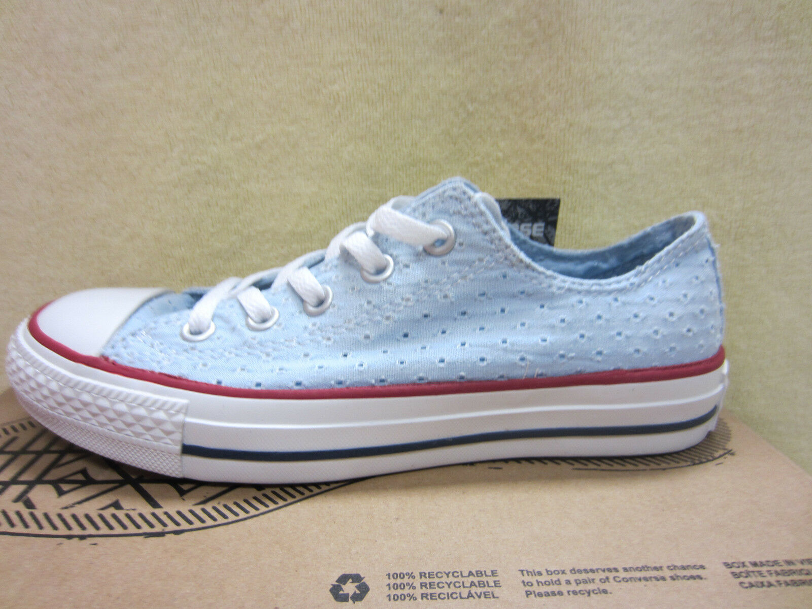 New Converse Womens CT OX Fountain blue 547694F Size 6 Athletic shoes Sneakers