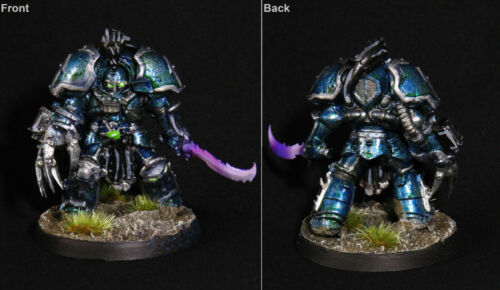 Details about  /Warhammer 40k Painted Chaos Space Marines Chaos Terminator Lord Alpha Legion