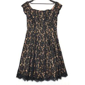 City-Chic-black-tan-Off-the-shoulder-lace-dreams-dress-S-16