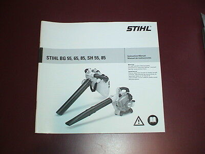 NEW NOS STIHL Owner S Instruction Manual Leaf Blower Vacuum SH BG 55 65 85 EBay