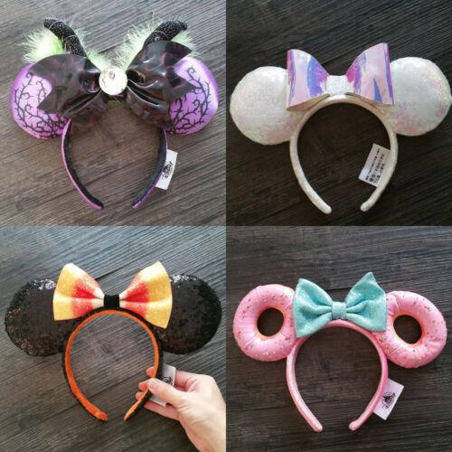 New Disney Park Donut Minnie Mouse Ears Mickey Party Halloween Festival Headband