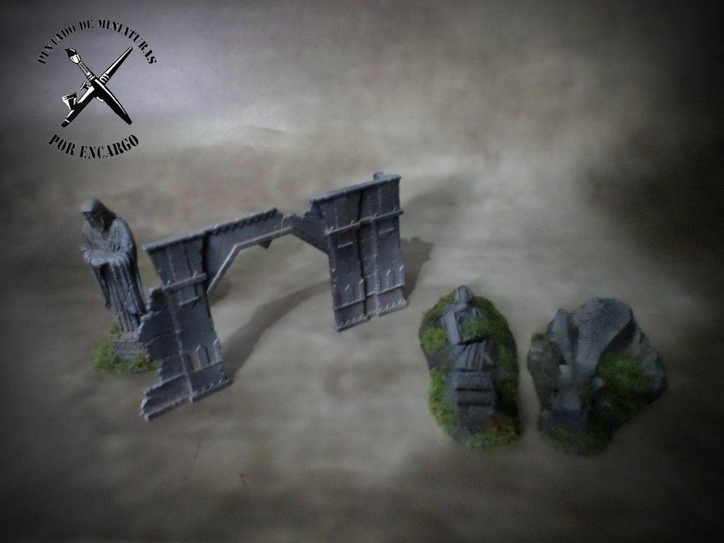 ⚠ AOS WARGAMES Rovine Warhammer AOS età di Sigmar PRO PAINTED
