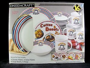 Image is loading Oneida-Sunrise-Diner-Dinnerware-16-pc-Service-for- : diner tableware - pezcame.com