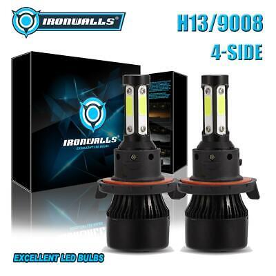 2018 NEW H13 9008 2400W 360000LM CREE LED Headlight Kit Hi//Lo Beams Bulbs 6000K