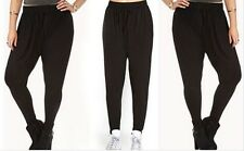 68% OFF AUTH FOREVER 21 DRAWSTRINGS RUCHED HAREM PANTS BNWT LARGE US$15.9+