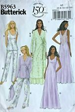 Butterick B6428 Pattern Misses Robe Gown /& Pants Sizes 4-26 BN Top
