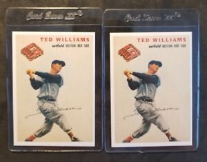 Ted-Williams-Boston-Red-Sox-lot-2-Wilson-Franks-Jalfco-RP-Baseball-Cards