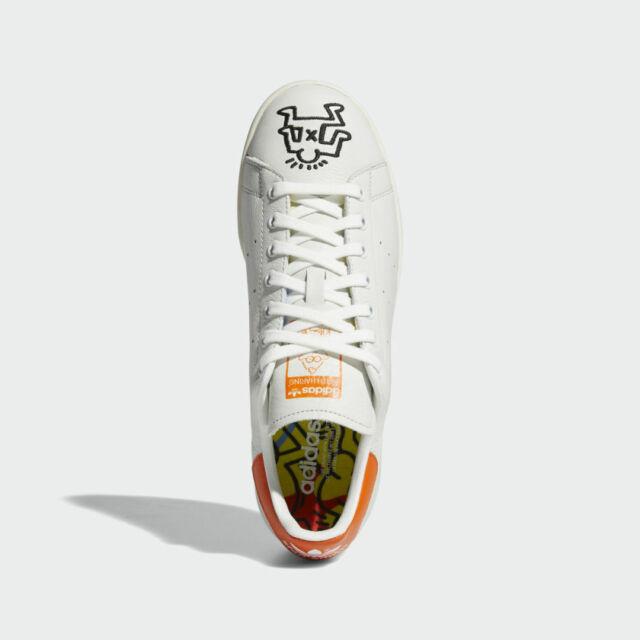 best quality buy best cheap sale NIB*Adidas Stan Smith x Keith Haring Sneaker*Mens*White Orange*Size 8-13*