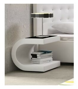 Image Is Loading New Modern Design Faux Leather Bedside Table Night
