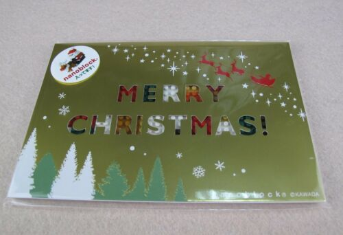 nanoblock NP061 postcard Merry Christmas
