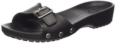 crocs Womens Sarah Sandal,  Black/Black, 7 M US