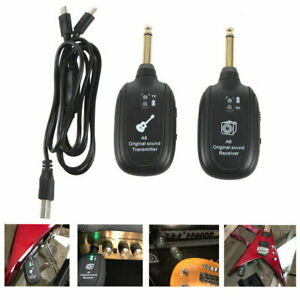 UHF-Guitar-Wireless-System-Transmitter-Receiver-Set-Built-in-Rechargeable-E6H7