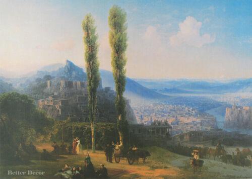 """28/"""" PRINT View of Tiflis,1869 by Aivazovsky ANTIQUE MUSEUM ART LANDSCAPE"""