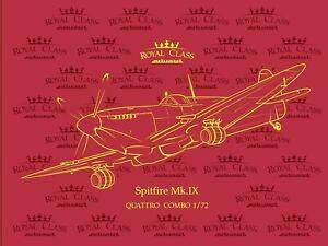 Eduard-Royal-Class-1-72-Spitfire-Mk-IX-Quattro-Quatre-AIRCRAFT-MODEL-KIT