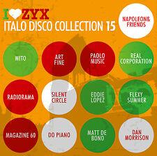 CD ZYX Italo Disco Colección 15 de Various Artists 3CDs
