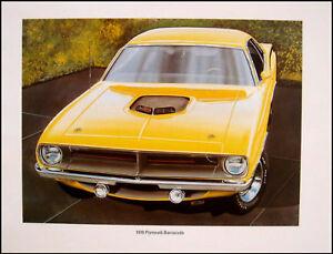 1966 Plymouth Barracuda Original Art Print Lithograph 66