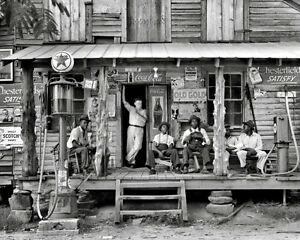 Photograph of a Country Store Texaco Gas in Gordonton North Carolina 1939  8x10