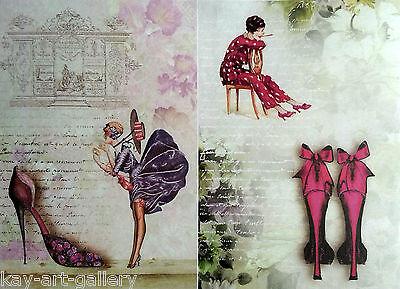 Rice Decoupage Paper / Decoupage Sheets  / Scrapbooking / Fashion 2  / Vintage