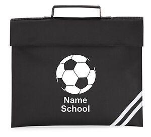PERSONALISED FOOTBALL BOOKBAG BOOK BAG SCHOOL PRINTED FOLDER NEW ...