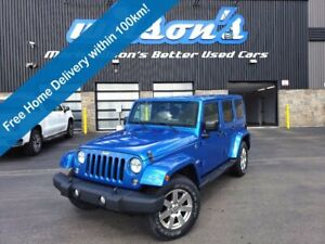 2015 Jeep Wrangler Sahara 4x4, Navigation System, Heated Seats, Remote Start, Bluetooth, Tow Hitch & More!