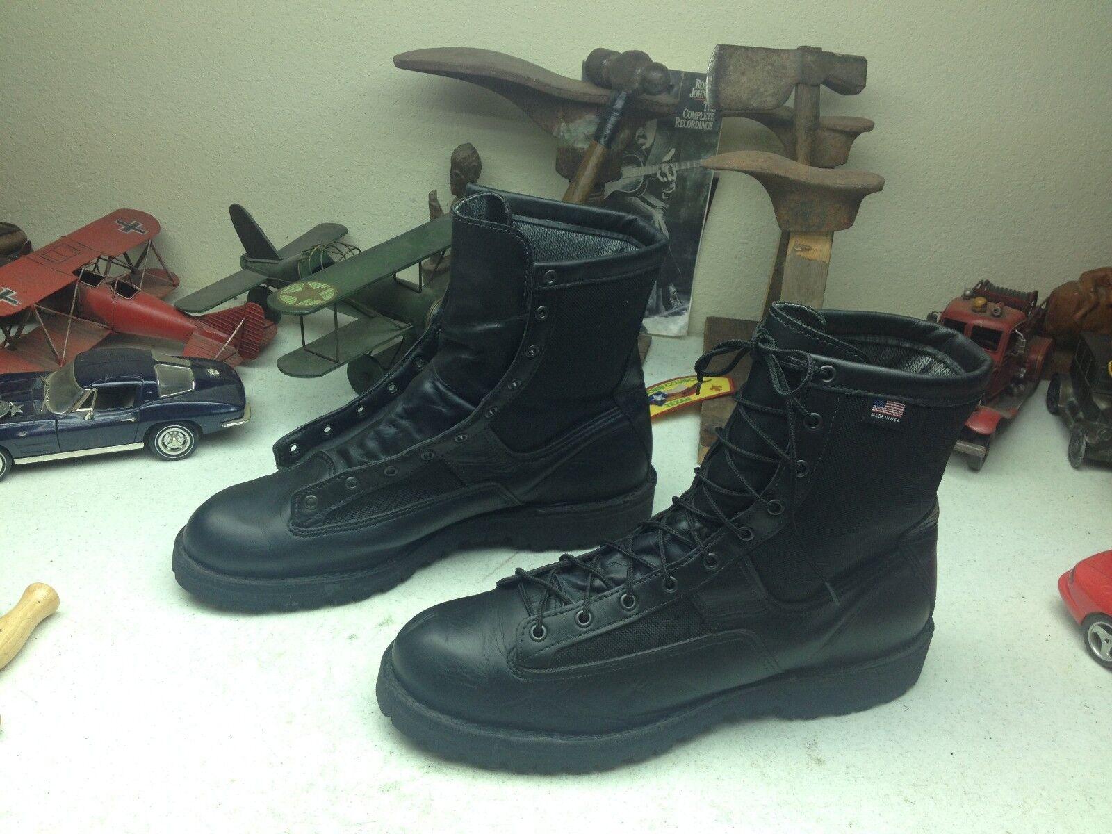 DANNER EE. UU. Negro Cuero Con Cordones ingeniero BOSS Ejército Militar Bota de moto 14D
