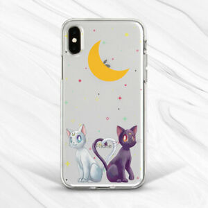 Details about Sailor Moon Luna Artemis Cat Art Case For iPhone 6S 7 8 Xs XR 11 Pro Plus Max